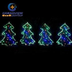Novo 4 PCS contorno verde árvores LED Motif Luzes de Corda