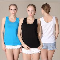 Frauen-neue Entwurfs-Qualitäts-Ebenen-Trägershirt-Baumwolle