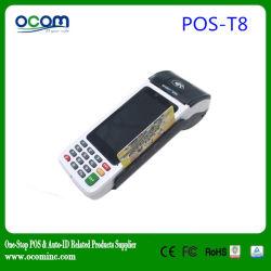 Boa qualidade! POS-T8 Andriod portátil Terminal POS EDC com impressora