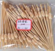 Bâton en bambou pour faire un barbecue, Cute Brochette de fruits de bambou