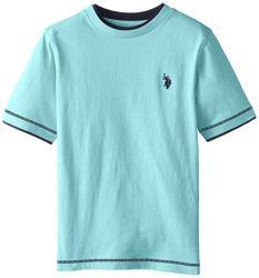 Doppie magliette rotonde del collo ragazzi personalizzati di marca dei grandi