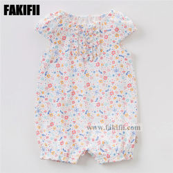 Fakifiiのブランドの製造業の赤ん坊は子供の服装の新生の綿の植物相のロンパースの卸売の方法衣類に着せる
