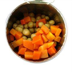 高品質で混合野菜缶詰にしました