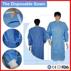 Não Tecidos/SMS/CPE Scrub bata/Hospital bata/Surigcal bata/Cirurgião bata/PP vestido dentária estéril/ vestido cirúrgica descartáveis, Isolamento bata descartável vestido de paciente