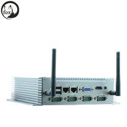 Caja de red sin ventilador Mini caja de PC/ Sistema Barebone Nfn80L, equipo de cliente ligero con RS232/RS485.