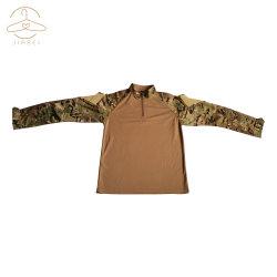 긴 소매를 가진 육군 전투 t-셔츠