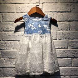 女の赤ちゃんのためのジーンズのスカート0-4歳