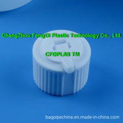 24-410 Terras de plástico PP branco Bico Pivô de Vedação Tampas para garrafas de cilindro de HDPE