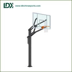 Sistema registrabile del cerchio di pallacanestro del nero del garage di Inground di altezza di corso della vita