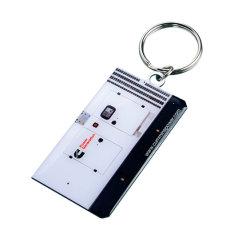 印刷のロゴ(Ele-K078)のカスタマイズされたステンレス鋼Keychain
