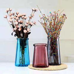 Florero de vidrio de color de la botella de Vidrio Jarra de cristal de cerámica de vidrio