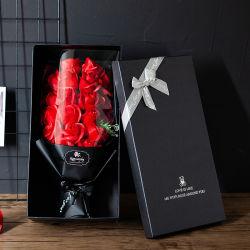 Сушеные мыло искусственные цветы мини букет на День святого Валентина подарок с индикатором букет роз Soap гвоздик Sun цветы