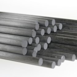 에폭시 탄소 섬유 로드 직경 3mm에서 100mm Pultrusion 고강도 높은 계수 내식성 실제적인 공장
