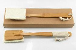 Esfoliante natural lufa escova de banho com a pega da escova de limpeza