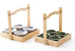 / De madera bambú cesta de regalo con asa para frutas verduras/ /Snack Storage