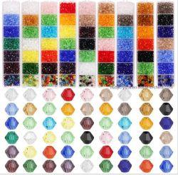 Mezclar los colores de embalaje Caja de 4mm Abalorios Cristal tallado Bicone DIY productos de bisuteria para Jewellry