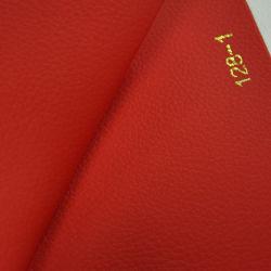 En rouge et orange Litchi Pattern PVC intérieur en cuir de voiture