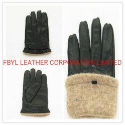 Guanti classici da uomo in vera pelle invernale con Fodera in lana (JYG-25199)