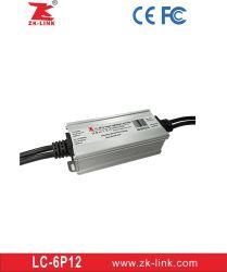 Temperatura de Cor de iluminação inteligente sistema Controlador de LED com marcação CE, FCC& RoHS (LC-6P12)