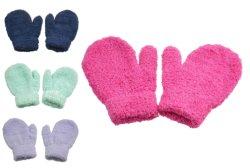 Einfarbig Weiche Fleece-Garne Bunte Baby Handschuhe Strickhandschuhe