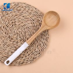 Hot-Sale Food Grade Ceramic Handle Houten Spoon Keukengerei Accessoires