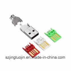 Huidige 5A van Nieuwe Gelaste het drie-Stuk USB van de Draad Schakelaar