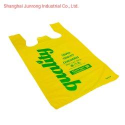 De chemisch afbreekbare HDPE Plastic Zak van de T-shirt met Aangepaste Af:drukken