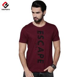 Vêtements de loisirs d'été de gros de l'impression de l'écran T Shirt pour hommes