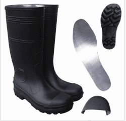 L'industrie Steel Toe Cap de la sécurité des bottes de pluie élevée de genou