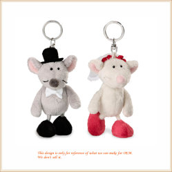 Het uitstekende kwaliteit Gevulde Stuk speelgoed Keychain van de Pluche van de Muis voor de Giften van de Bevordering