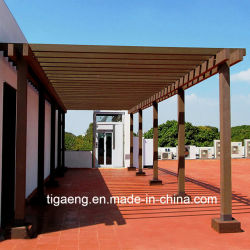 Pergola composito di plastica di legno esterno impermeabile decorativo della galleria WPC