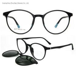 Clip magnetica su ordinazione dei telai dell'ottica Tr90 della fabbrica di stile di modo sugli occhiali da sole per le donne degli uomini