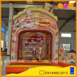 Brinquedo com Bouncer insufláveis e deslize a almofada insuflável de PVC Deslize Bouncer Combo (AQ01528)
