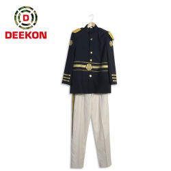 Uniforme convenzionale militare di colore blu scuro superiore per l'esercito