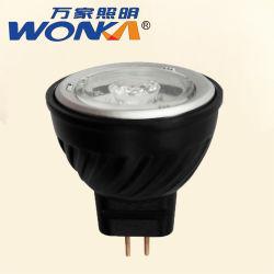 12V 2700K 2,5 W LED de alumínio MR11 Lâmpadas da Luz de paisagem exterior