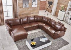 Neues modernes Wohnzimmer-Schnittecke Freizeit-chinesisches Italien-Spitzenkorn-Leder-halbes Leder-Gewebe PU-Belüftung-Flannelette mit automatischem manuellem Recliner-Sofa
