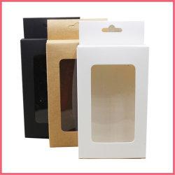 明確なWindowsのこつの穴包装ボックスクラフトのギフトのパーティの記念品の白く黒いボール紙
