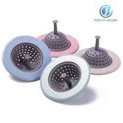 Drenagem do Filtro do dissipador de cozinha - Filtro coador dissipador - Cozinha da cesta do filtro de Silicone - Casa de banho com chuveiro lavatórios de esgotos da tampa do orifício de esvaziamento do filtro de cabelo