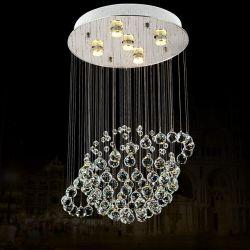 卸売の中国製地球の形の水晶シャンデリアLEDのペンダント灯6005-5