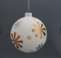 As embarcações de vidro ouro Vidro Pintura bola de Natal para a festa