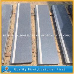G654 Flamed Padang ladrilhos de granito cinza escuro para andar/Escada