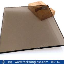 Farbiges angestrichenes freies goldenes graues blaues Grün-dunkles Schwarz-Kristallbronzelicht abgetöntes reflektierendes Gleitbetriebs-Gebäude Glas