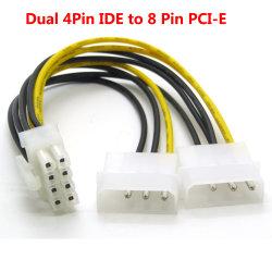 16cm 8 Lp4 4pin Molex IDEの電源コードの二倍になるPin PCI明白なPCI-Eの男性アダプター