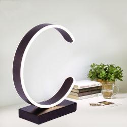 Nordic Creative Modern Simple Warm Fashion Aluminum + Acrylic Wood LED C-Type ART 데스크 램프
