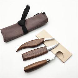 木製の切り分ける用具のスプーンの Carving のフックのナイフのセット
