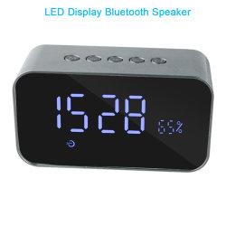 CDドライバーボックスデジタル目覚し時計LEDミラーの表示の外のBluetoothの無線スピーカー
