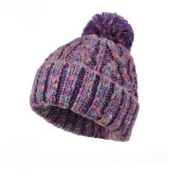 أكريليكيّ جاكار [نيت] قبعة [بوم] [بوم] يحبك قبعة [بني] قبعة