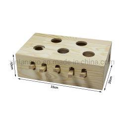 Teaser Cat juguete Ratón Whack Mole Ratón de madera maciza Cat Puzzle Box