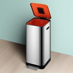 Nouveau Eco Friendly durable recycler inodore Soft Multi Classification Fermer la chambre de la pédale en acier inoxydable corbeille
