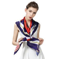 Lussuosa Lady Stole Fashion puro poliestere Seta Feeling Sarong Bandana Sciarpa Hijab con archetto